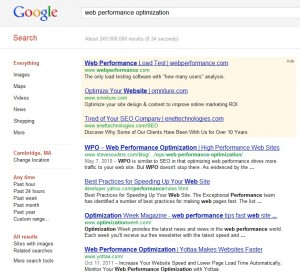 Logged Out Google Search Results Page Web Performance Optimization
